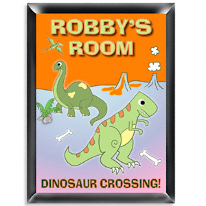 Personalized Dinosaur Room Sign imagerjs