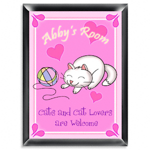 Personalized Kitten Room Sign imagerjs
