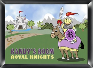 Personalized Knight Room Sign data-pin-no-hover=