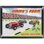 Personalized Racer Room Sign