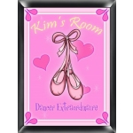 Personalized Ballet Slippers Room Sign