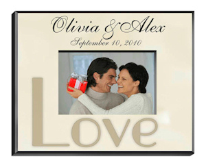 Customized Wedding Parchment Photo Frame imagerjs