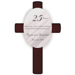 Personalized 25th Anniversary Cross
