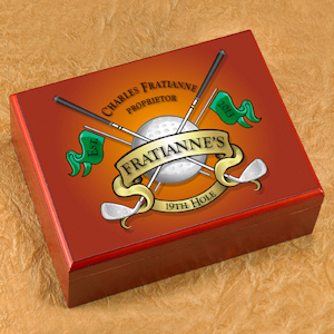 Personalized Golf Cigar Humidor imagerjs