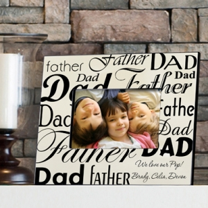 Personalized Dad & Father Photo Frame imagerjs
