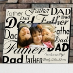 Personalized Dad & Father Photo Frame