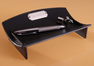 Personalized Leather Desk Caddy imagerjs