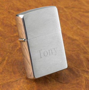 Personalized Brushed Chrome Zippo Lighter imagerjs