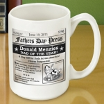 Personalized Fathers Day Headline Coffee Mug
