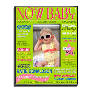 Personalized Baby Magazine Frame - Girl or Boy imagerjs