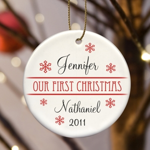 Personalized Our First Christmas Ornament (8 Designs) imagerjs