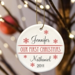 Personalized Our First Christmas Ornament (8 Designs)