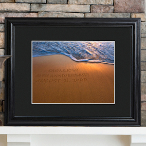 Sparkling Sands Personalized Framed Anniversary Print imagerjs