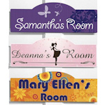 Personalized Stylish Girl Room Signs - 6 Designs