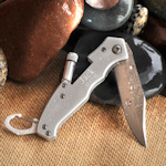 Personalized Lockback Knife with Flashlight