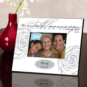 Personalized 'Always In My Heart' Memorial Frame (3 Colors) imagerjs