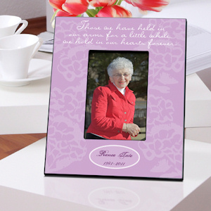 Personalized In Our Hearts Memorial Frames (2 Colors) imagerjs