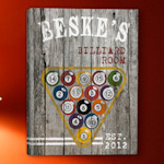 Personalized Billiards Canvas Print