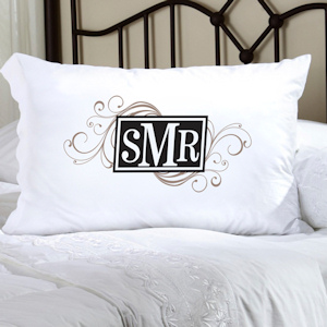 Personalized Cheerful Monogram Pillow Case imagerjs