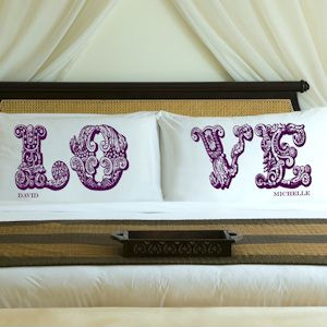 Personalized LOVE Pillow Case Sets (8 Colors) imagerjs