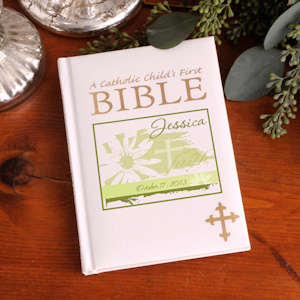 Personalized Catholic Child's Bible - Many Designs imagerjs