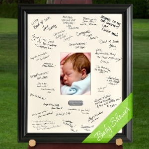 Personalized Baby Shower Signature Frame imagerjs
