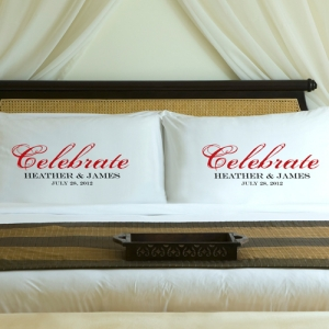 Personalized Celebration Couple Pillow Case Set imagerjs