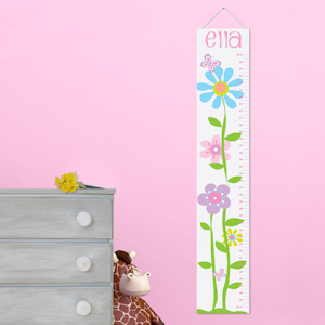 Personalized Butterflies and Blooms Height Chart imagerjs