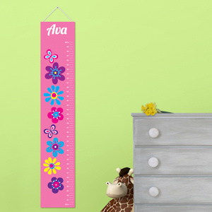 Personalized Frilly Floral Height Chart imagerjs