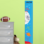 Personalized Space Men Height Chart