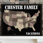 Personalized Family Map Canvas Prints (4 Designs)