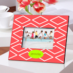 Color Brights Geometric Design Picture Frames (9 Designs)