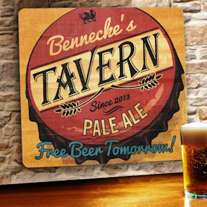 Free Beer Tomorrow Personalized Wood Tavern & Bar Sign imagerjs