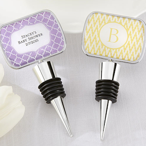 Personalized Baby Shower Bottle Stopper Favors imagerjs