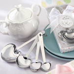 Stainless Steel Heart Shaped Measuring Spoon Set