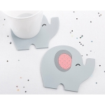 Little Peanut Pink Elephant Coaster Favors (Set of 2)