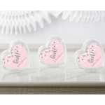 Personalized It's a Girl Heart Favor Container (Set of 12)