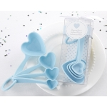 Blue Heart Plastic Measuring Spoons