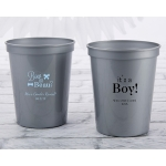 Personalized Baby Shower 16 oz Stadium Cup