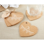 Oh Baby Heart Cork Coaster Favors(Set of 4)