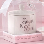 'Sugar and Spice and Everything Nice' Ceramic Sugar Bowl