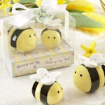 Mommy and Me Ceramic Honeybee Salt and Pepper Shakers