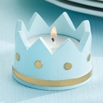 Little Prince Tealight Holder Baby Shower Favors (Set of 4)