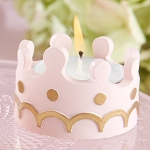 Little Princess Tealight Holder Shower Favors (Set of 4)