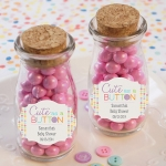 Cute as a Button Personalized Milk Jar (Set of 12)
