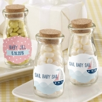 Personalized Nautical Baby Shower Milk Jar Favor (Set of 12)