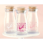 Personalized It's a Girl Printed Milk Jar (Set of 12)