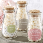 Personalized Rustic Baby Shower Milk Jars (Set of 12)