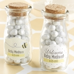 Personalized 'Sweet as Can Bee' Milk Jar Baby Favors