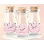 Personalized It's a Girl Milk Jar (Set of 12)